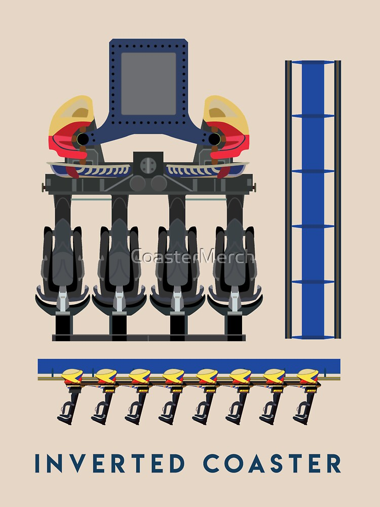 Montu - B&M Invert Coaster Design - Busch Gardens Africa by CoasterMerch