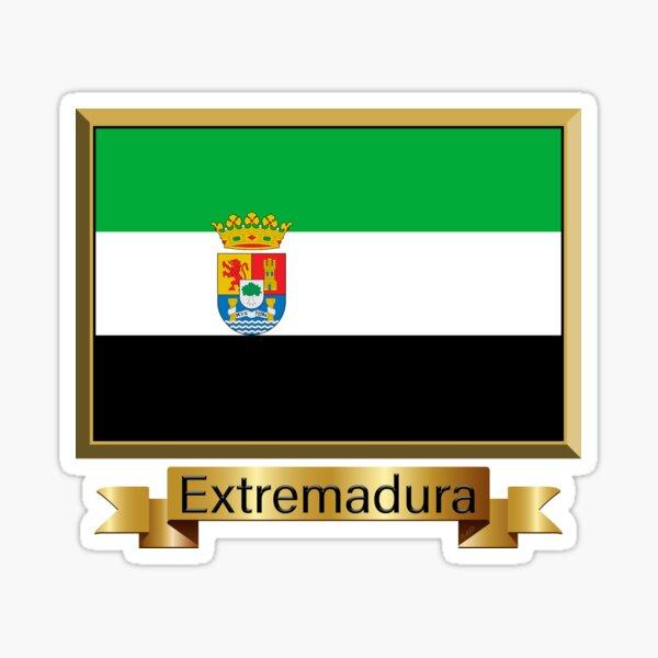 Regalos, pegatinas y productos de la bandera de Extremadura - Nombrados Pegatina