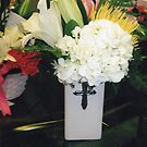 ftd - sympathy ceramic wear - good for easter - lushious flowers floral studio by candace lauer