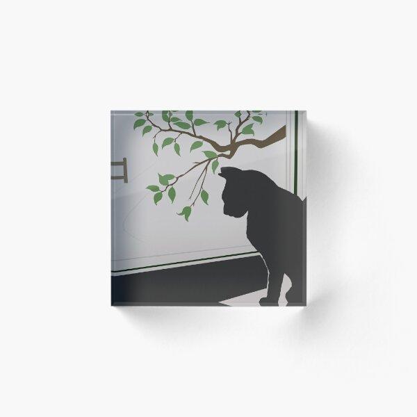Cat at the Window Acrylic Block