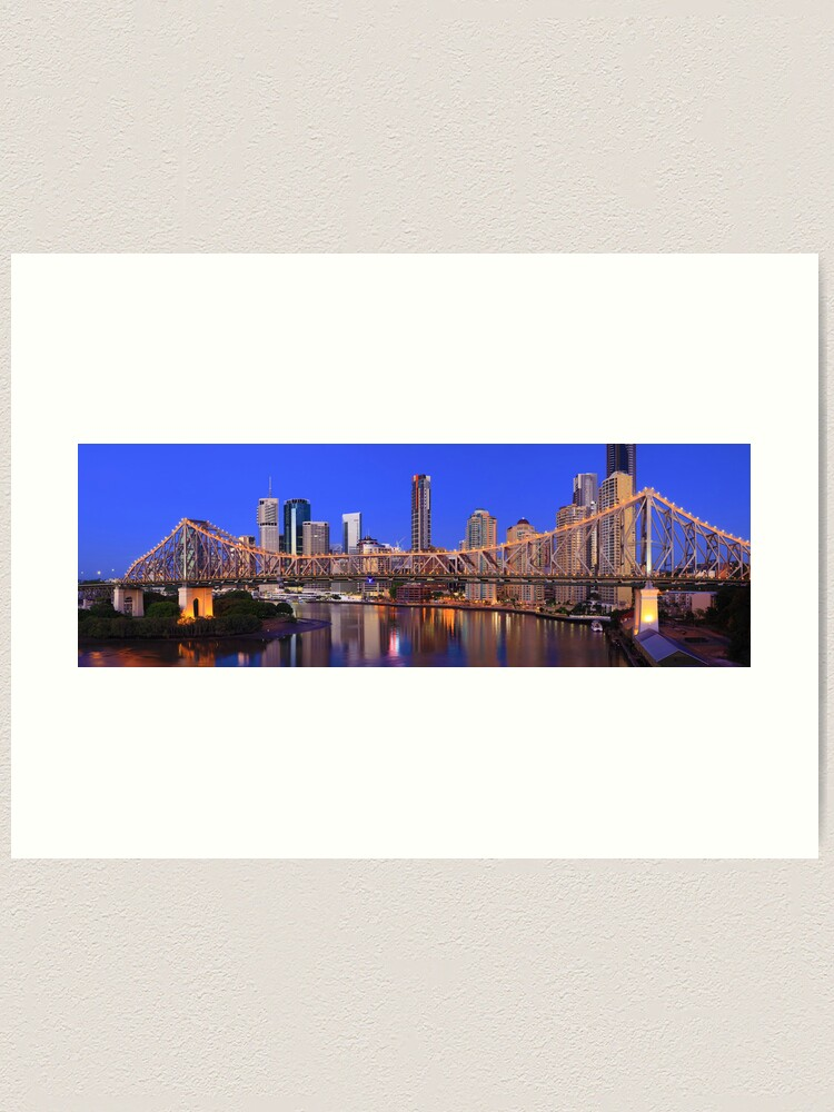 Alternate view of Story Bridge, Brisbane, Queensland, Australia Art Print