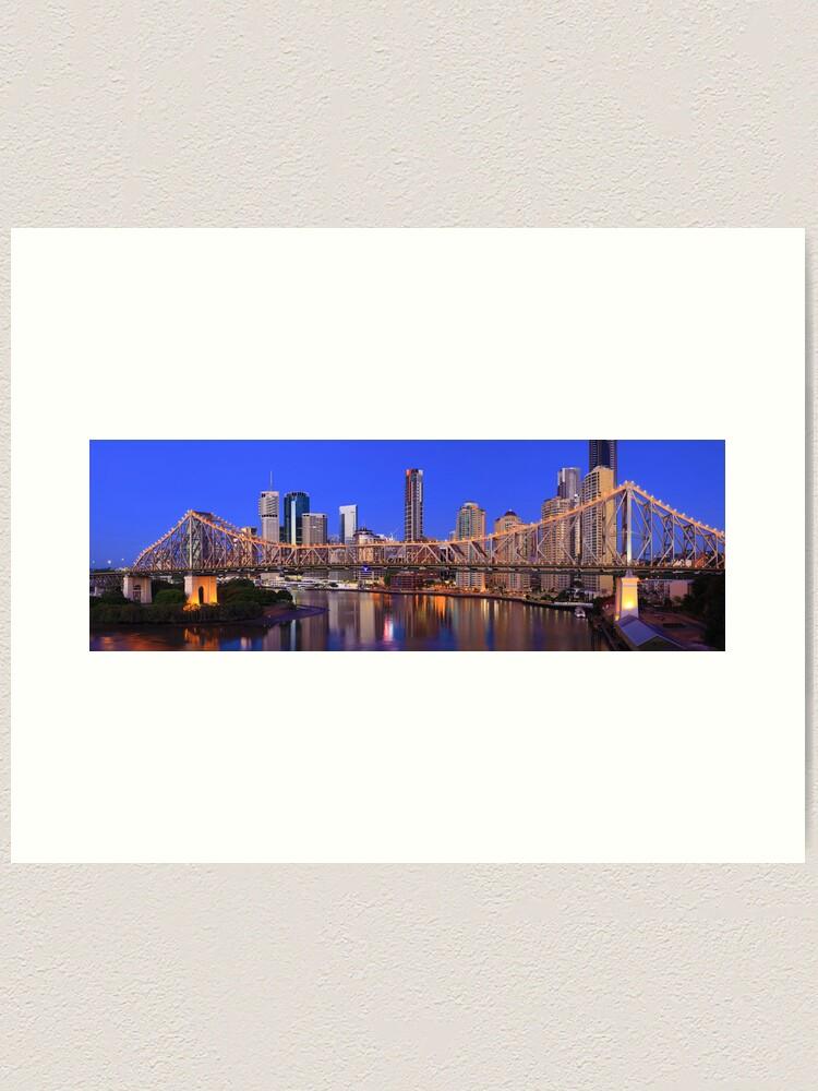 Alternate view of Story Bridge, Brisbane, Queensland, Australia Art Print