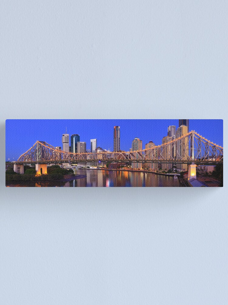Alternate view of Story Bridge, Brisbane, Queensland, Australia Canvas Print