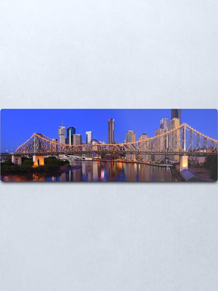 Alternate view of Story Bridge, Brisbane, Queensland, Australia Metal Print