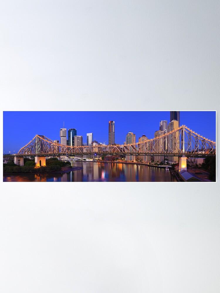 Alternate view of Story Bridge, Brisbane, Queensland, Australia Poster