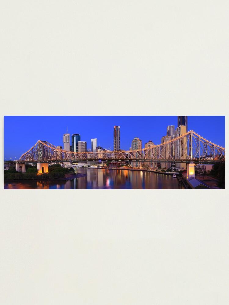 Alternate view of Story Bridge, Brisbane, Queensland, Australia Photographic Print