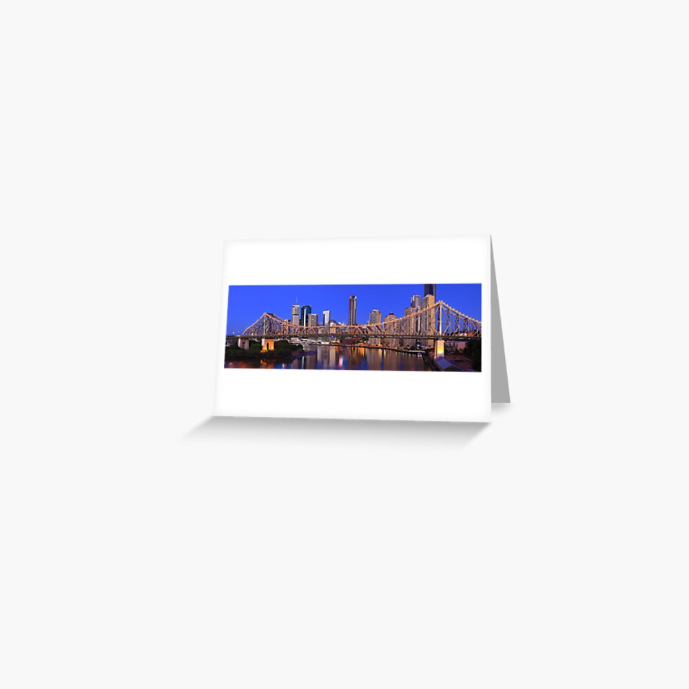 Story Bridge, Brisbane, Queensland, Australia Greeting Card