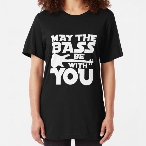 musicians and music lovers.This graphic is perfect for bassists Slim Fit T-Shirt