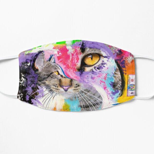 Colorful Cat Flat Mask
