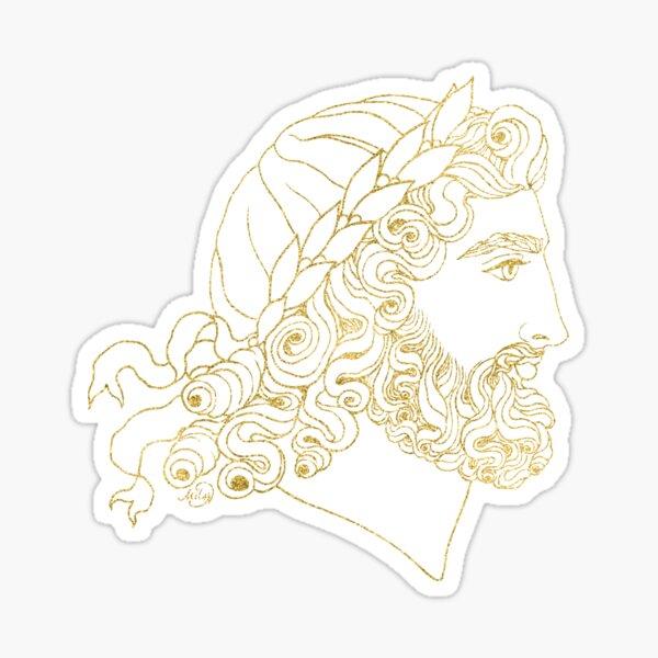 Zeus (purple & gold) Sticker