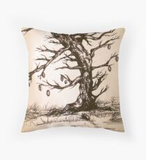 Cowrie tree Throw Pillow