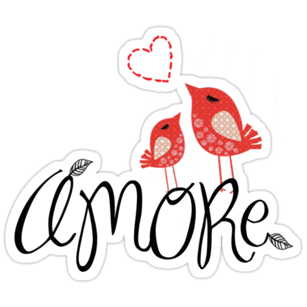 Amore Love Tee by Voila & Black Ribbon Tees