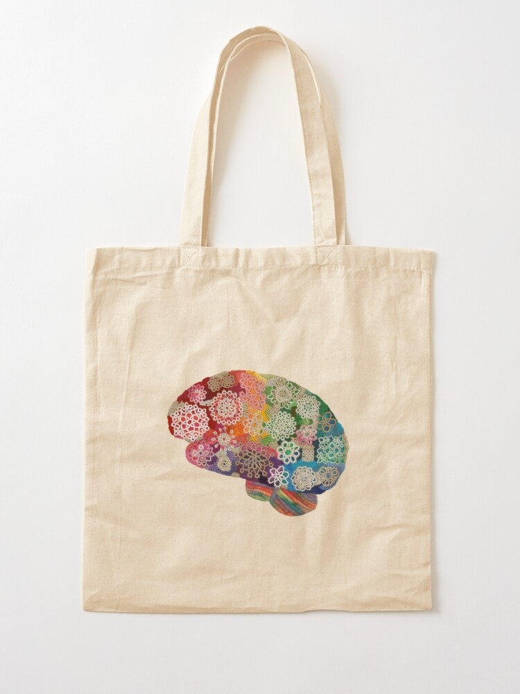 Alternate view of Opalicious - Rainbow Brain  Tote Bag