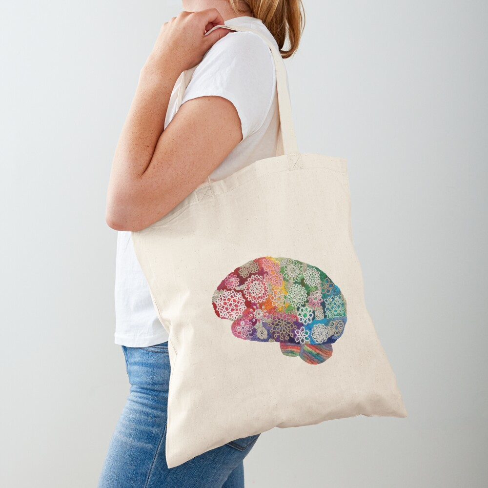 Opalicious - Rainbow Brain  Tote Bag