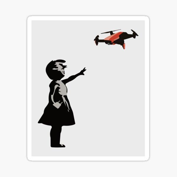 Drone Selfie Graffiti Art Sticker
