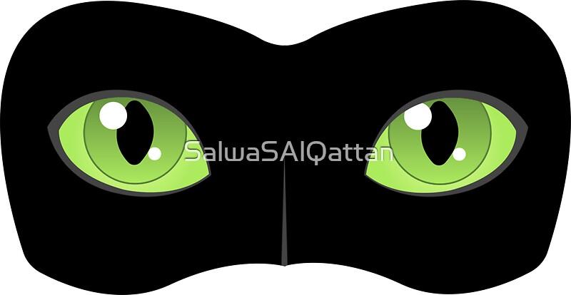 """Cat Noir eyes"" Stickers by SalwaSAlQattan | Redbubble"