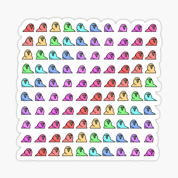 Party Parrot Rainbow Sticker
