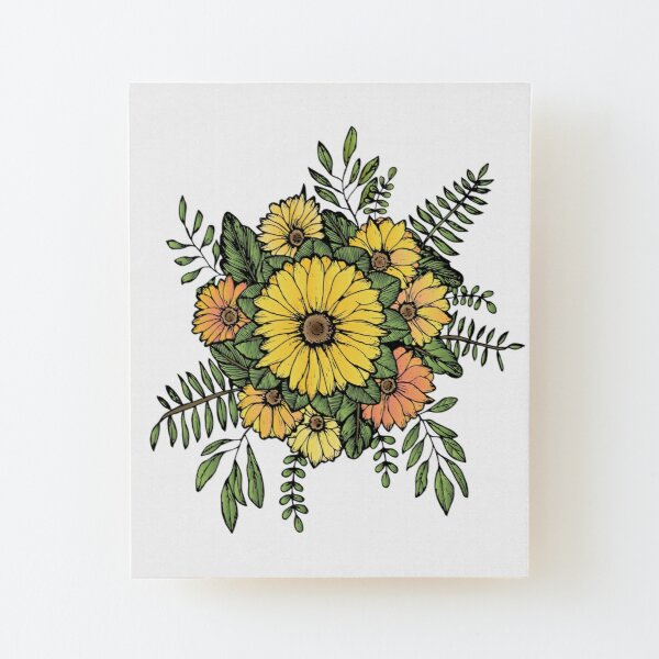 SUNFLOWERS Wood Mounted Print