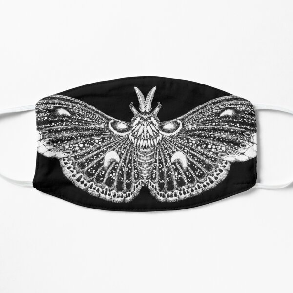 Cecropia Moth mask in black  Mask