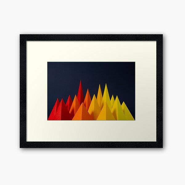 Paper Craft Points Framed Art Print