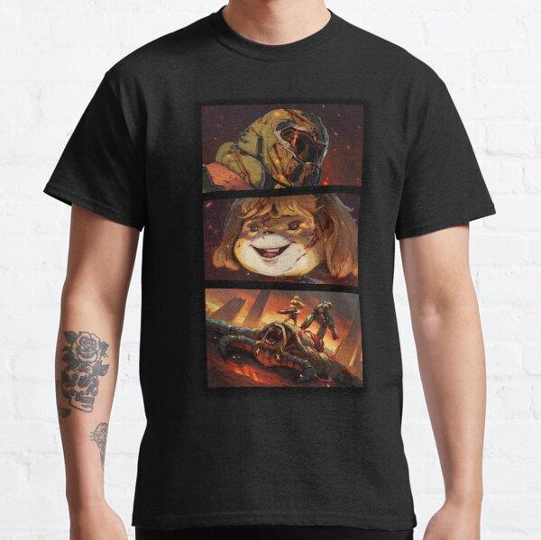 DOOM CROSSING BADASS PUNTO DE VISTA Camiseta clásica