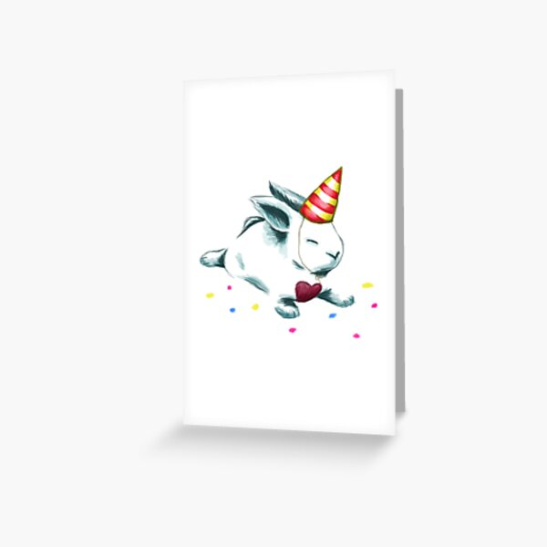 Cheer Me Bunny - Birthday Greeting Card
