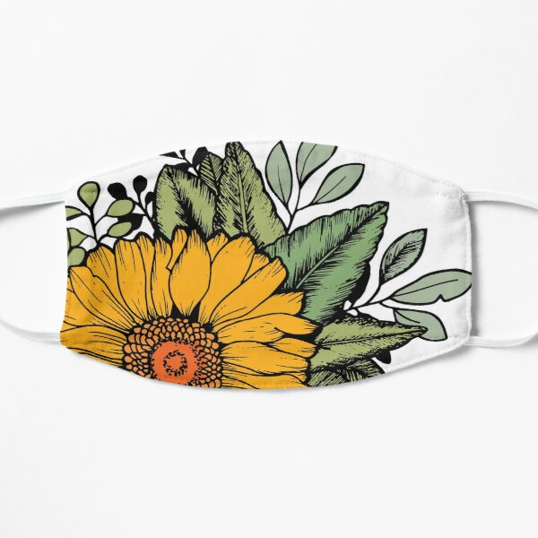 Sunflower Flat Mask