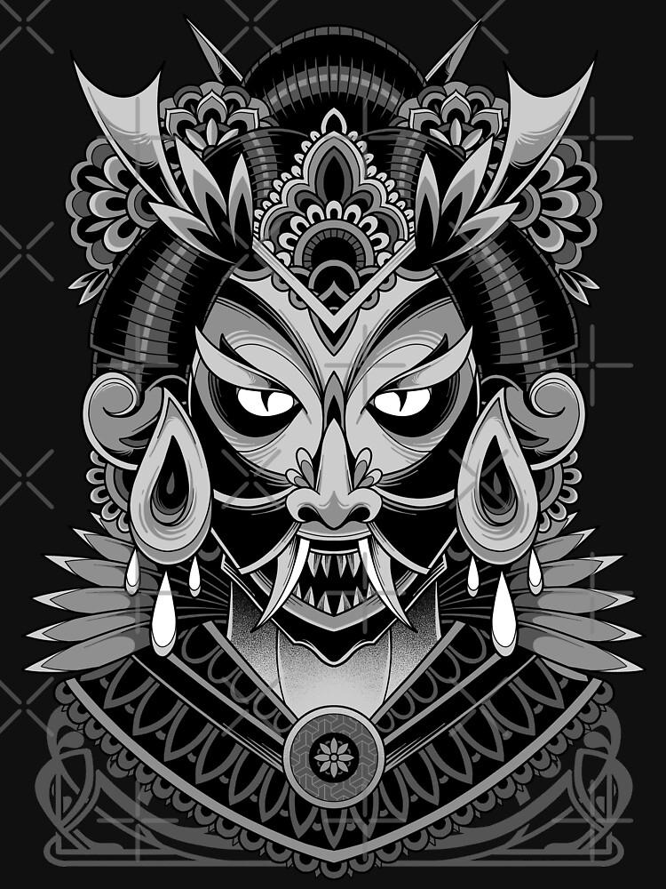 Oni Geisha by GODZILLARGE