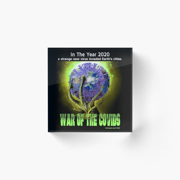 War of the Covids Acrylic Block