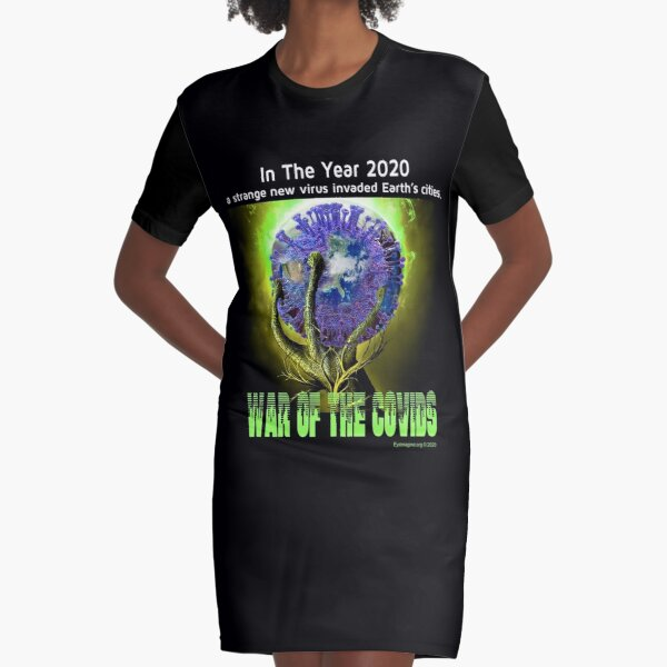 War of the Covids Graphic T-Shirt Dress