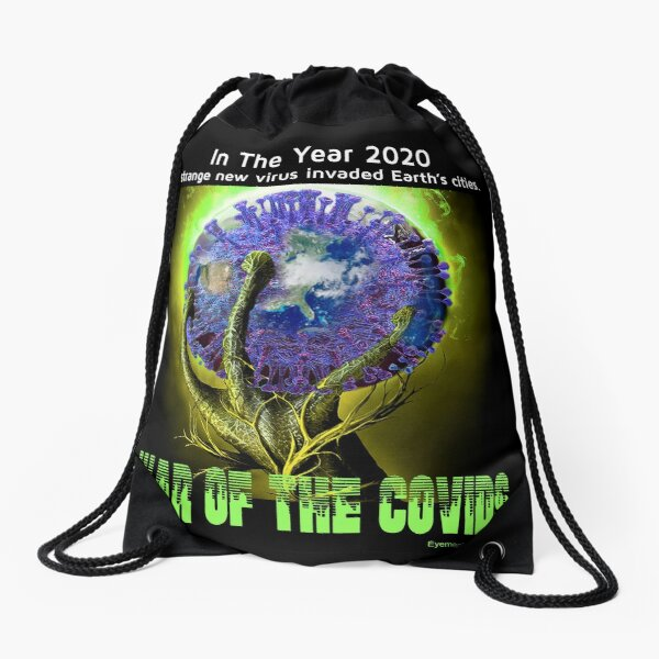 War of the Covids Drawstring Bag