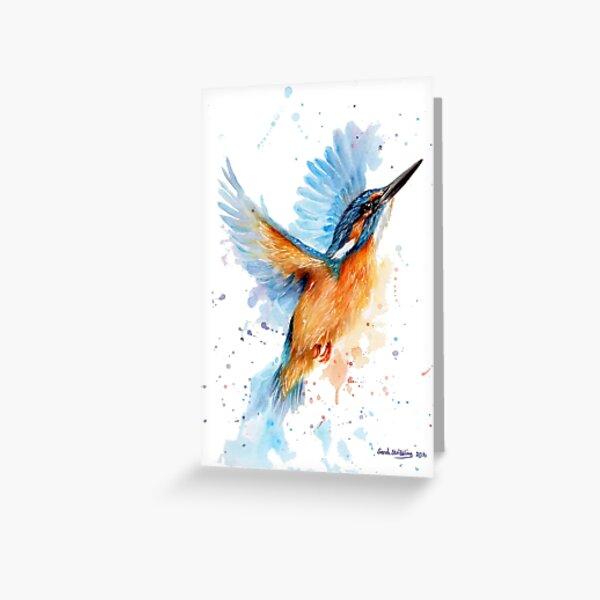 Kingfisher watercolour Greeting Card