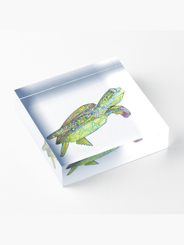 Alternate view of Sea Turtle Drawing - 2015 Acrylic Block