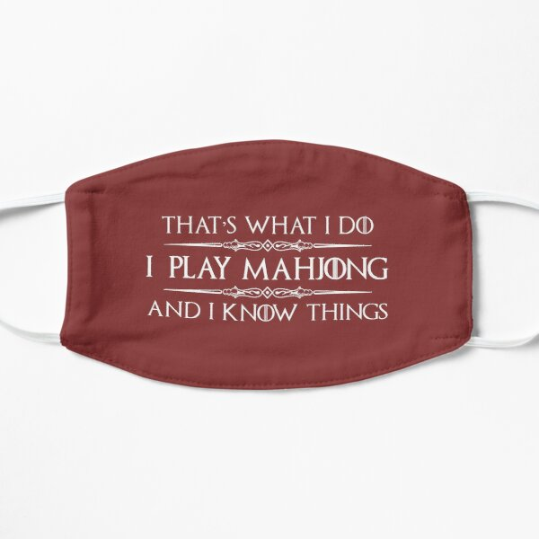 Mahjong Player Gifts - I Play Mahjong & I Know Things Funny Gift Ideas For Mah Jong Players & Lovers Mask