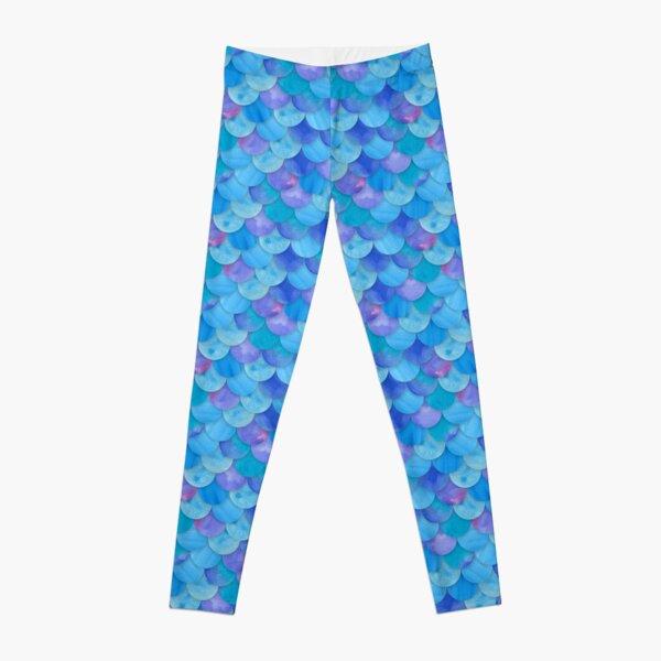 Mermaid Scales Blue Leggings