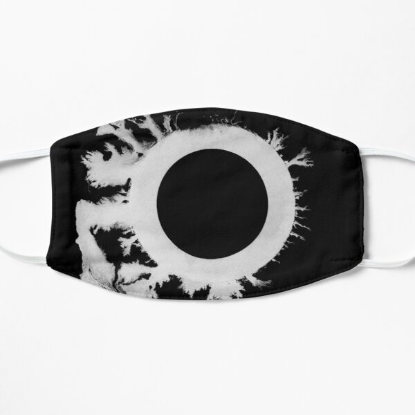 Bauhaus the sky's gone out post punk 80s retro black and white artwork Flat Mask