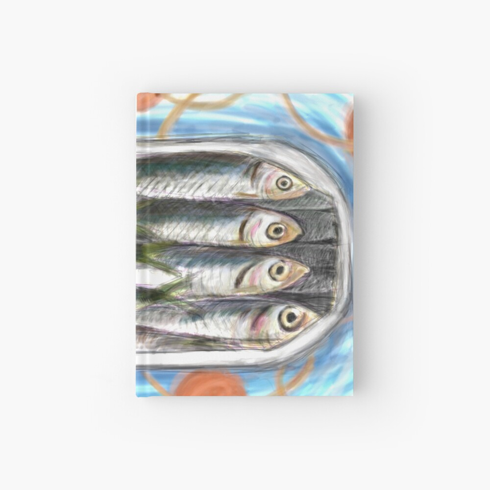 sardines in a box Hardcover Journal