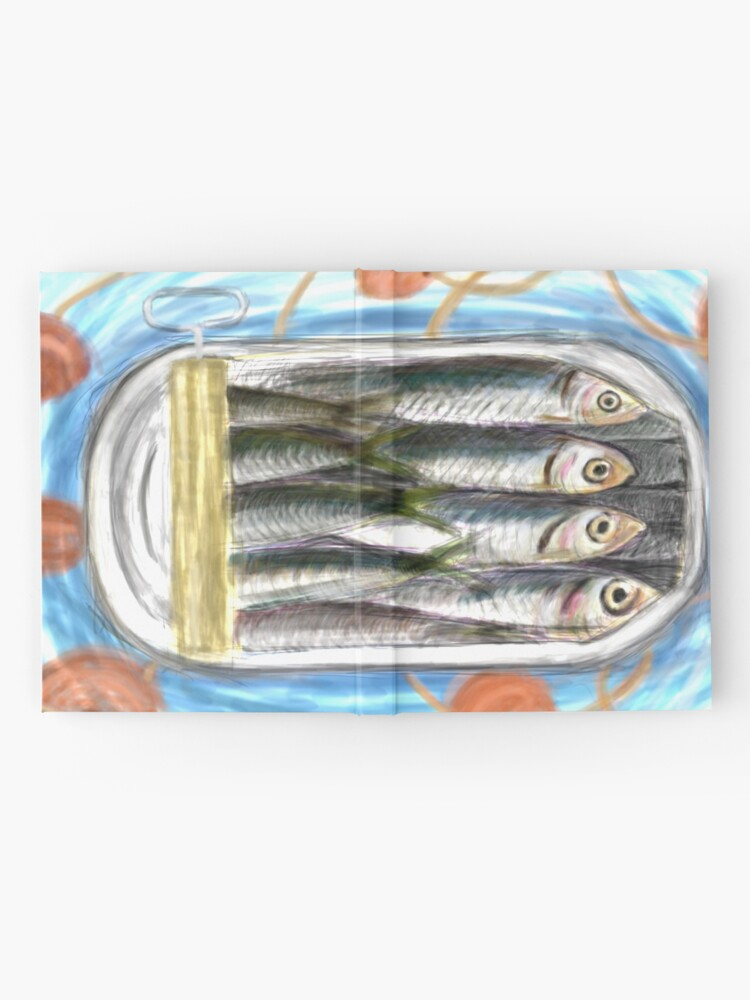 Alternate view of sardines in a box Hardcover Journal