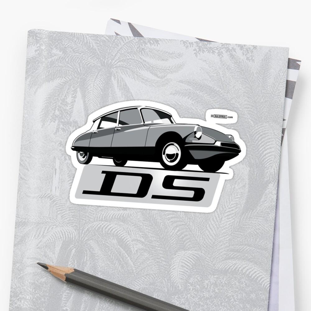 Citroën DS script emblem and illustration by Robin Lund