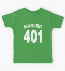 Team shirt - 401 Unauthorized, white letters Kids Tee