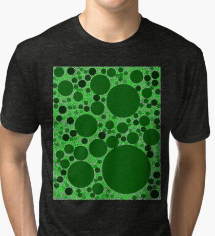 Random Tiling Greener Tri-blend T-Shirt