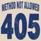 Team shirt - 405 Method Not Allowed, blue letters by JRon