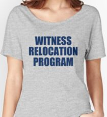 WITNESS RELOCATION PROGRAM TEE AS SEEN ON FOO FIGHTERS DAVE GROHL Women's Relaxed Fit T-Shirt