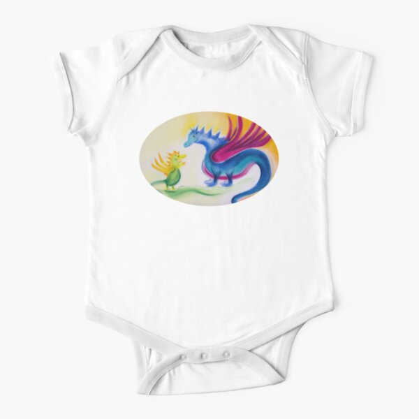 Dragon baby with dragon mom Short Sleeve Baby One-Piece