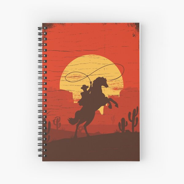 Cowboys of the Wild West - Riding Solo Spiral Notebook