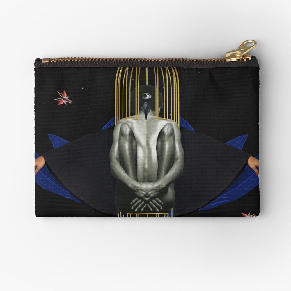 Blackbird - Freedom, Independence, Bird, Fly Zipper Pouch