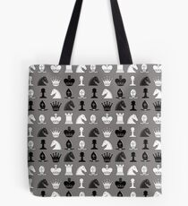 Chess Pieces Pattern Tote Bag