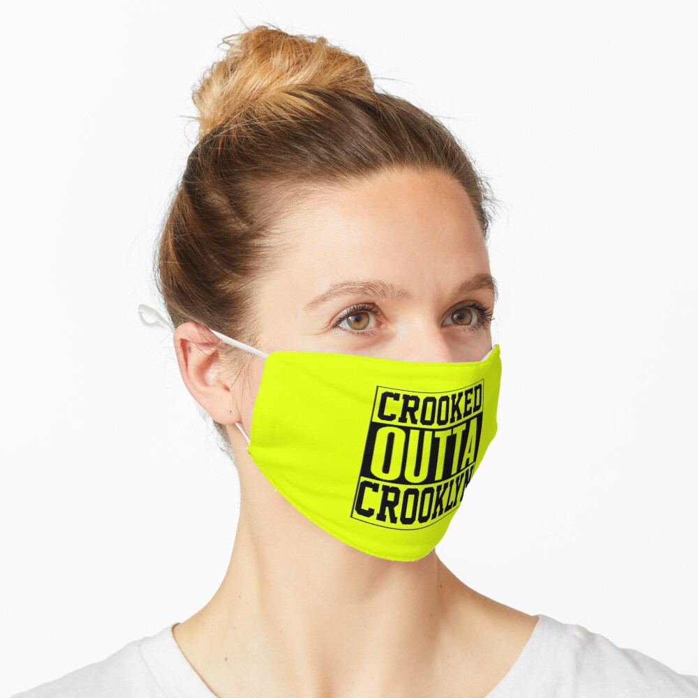 Crooked Outta Crooklyn T-Shirt Design Mask