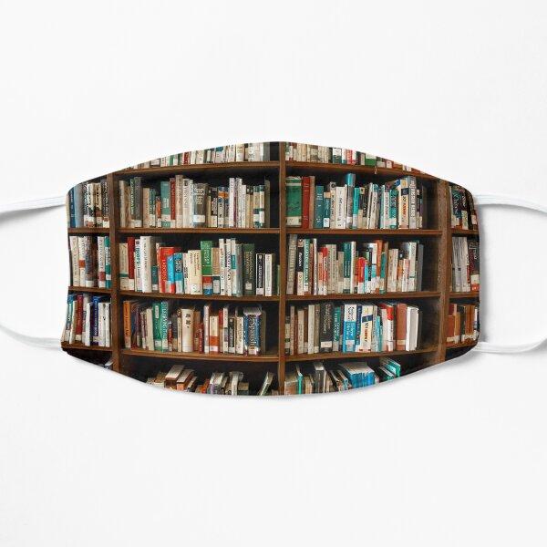 Books On Shelves                                    Flat Mask