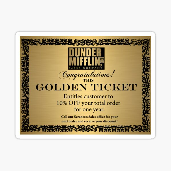 Golden Ticket Sticker